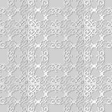 3D white paper art Spiral Curve Cross Royal Frame Crest. Vector stylish decoration pattern background for web banner greeting card design Stock Images