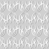 3D white paper art Spiral Curve Cross Wave Vine. Vector stylish decoration pattern background for web banner greeting card design Stock Photo