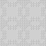 3D white paper art Stitch Cross Geometry Mosaic Check Line. Vector stylish decoration pattern background for web banner greeting card design Royalty Free Stock Photos