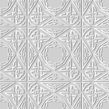 3D white paper art Triangle Polygon Aboriginal Cross Frame Chain. Vector stylish decoration pattern background for web banner greeting card design Royalty Free Stock Image