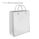 3D white paper shopping bag Royalty Free Stock Photography