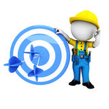 3d white people as plumber with arrows Stock Images