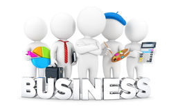 3d white people business jobs. White background, 3d image Stock Images