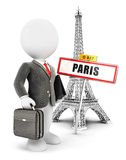 3d white people businessman in Paris Royalty Free Stock Photos
