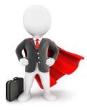 3d white people businessman superhero Stock Photography