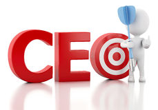3d white people with CEO word. Business concept. Stock Photography