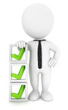 3d white people checklist Royalty Free Stock Image