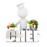 3d white people chef Royalty Free Stock Photography