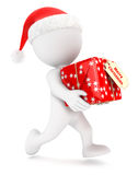 3d white people christmas express delivery Stock Image