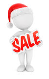 3d white people christmas sale Stock Images