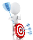 3d white people with darts and target. success in business Stock Image