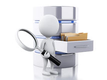 3d White people with data storage Stock Image