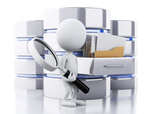 3d White people with data storage Royalty Free Stock Images