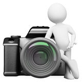 3D white people. Digital camera DSLR Stock Image
