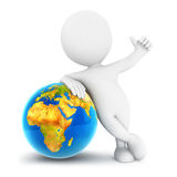 3d white people earth. Isolated white background, 3d image Stock Photos