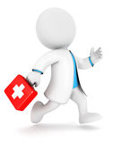 3d white people first aid. Isolated white background, 3d image Royalty Free Stock Photos