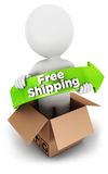 3d white people free shipping Royalty Free Stock Image
