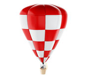 3d White people on hot air ballon with binoculars. Stock Images