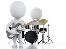 3d white people. Music group on white background Royalty Free Stock Photo