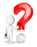 3d white people painting question mark Stock Images