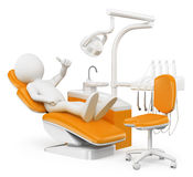 3D white people. Patient at the dentist Royalty Free Stock Photo
