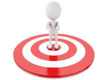 3d white people in red target. success in business Royalty Free Stock Image