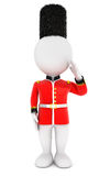 3d white people royal guard. White background, 3d image Royalty Free Stock Images