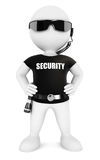 3d white people security guard Stock Photos