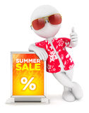 3d white people summer sale Stock Photo