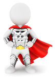 3d white people superhero with an armour. White background, 3d image Stock Photo
