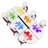 3D white people. Teamwork looking for the best solution royalty free illustration