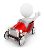 3d white people toy car Stock Photo