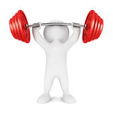 3d white people weightlifting Stock Photos