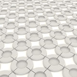 3D white round shape object pattern Stock Photo