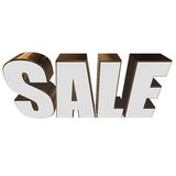 3d white sale word. Sale word on white background. 3D render Stock Photo