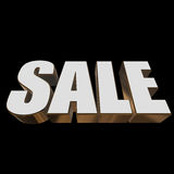3d white sale word Royalty Free Stock Image