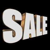 3d white sale word Stock Photos
