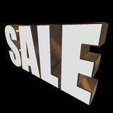 3d white sale word Royalty Free Stock Photography