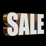 3d white sale word Stock Images