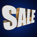 3d white sale word Stock Photo