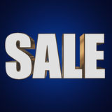 3d white sale word Stock Image