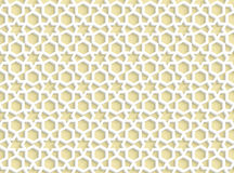 3d white seamless pattern in arabic style Royalty Free Stock Photos