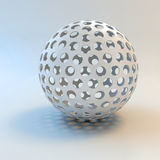 3d white shiny sphere Royalty Free Stock Photo