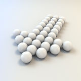 3d white shiny spheres Stock Images
