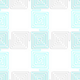 3D white spiral squares with blue crossing Royalty Free Stock Photos