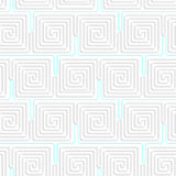 3D white spiral squares with blue Royalty Free Stock Photo