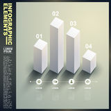 3d white statistics template infographic elements Royalty Free Stock Images