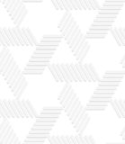 3D white striped blocks forming triangles Stock Photography