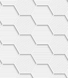 3D white striped gray hexagonal net Royalty Free Stock Photography