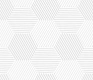 3D white striped hexagons forming tetrapods Royalty Free Stock Image